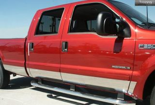 "99 10 Ford Super Duty Long Bed Rocker Panel Trim Body Moulding 8 75"" Wide 10pc"