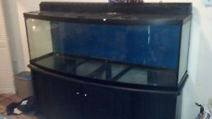 Fish Tank 180 Gallon Bow Front w Stand Pump Top and Lights