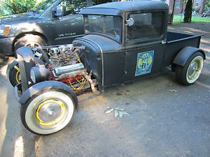 Pickup Truck Tilt Steering 1932 Grille Tri Power Ford Engine Rat Rod Street Rod