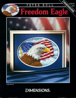 """Freedom Eagle"" American Flag USA Patriotic Cross Stitch Pattern Leaflet Chart"