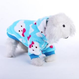 Pet Dog Fluffy Hooded Pajamas Coat Clothes Soft Sleeping Apparel s M L XL XXL