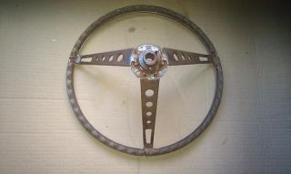 Fairlane Galaxie Mustang Shelby Woodgrain Steering Wheel Deluxe Pony Interior