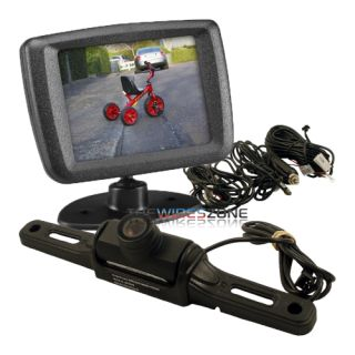 "Audiovox ACA240 Wireless Car License Plate Rear View Camera and 2 5"" Monitor"