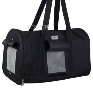 "18""Black Durable Vents Pet Dog Cat Travel Bag Carrier Hand Carry Crate Tote D156"