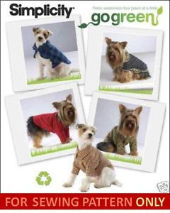 Dog Clothes Pattern Coat Jacket 4 Toy x Small Breeds