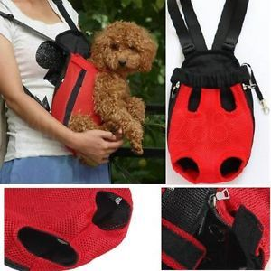 Soft Breath Nylon Pet Dog Cat Carrier Backpack Sling Tote Front Net Bag Travel M