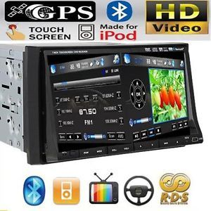 "It 3D 2 DIN 7""Car DVD CD Radio Player GPS Navigation iPod Pip Touch Screen Map"