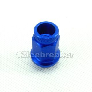 M12x1 25 20 Lightweight Blue Wheel Rim Racing Lug Nut Screw 40mm Short Open End
