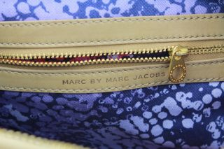 Authentic Marc by Marc Jacobs Lil Lissy Tan Brown Cream Leather Hobo Handbag