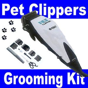 New Animal Pet Dog Cat Grooming Multi Hair Cut Clipper Trimmer Shaver Kit Set UK