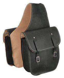 Western Trail Horse Saddle Bag or Motorcycle Saddle Bags Black