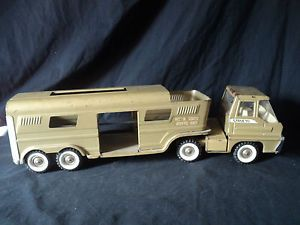 Vtg 1966 Metal Structo Vista Dome Horse Trailer Van Truck