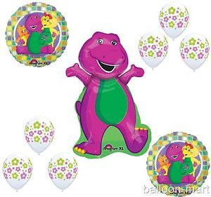 Barney Flower Garden Party Balloons Birthday Supplies Baby Bop Shower Set Girls