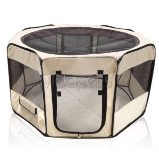 "Vidapets 45"" Beige Soft Pet Dog Playpen Guinea Pig Puppy Exercise Pen Kennel"