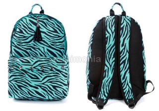 Zebra Print Backpacks for Women Animal Print Backpack Bookbags Mint 2