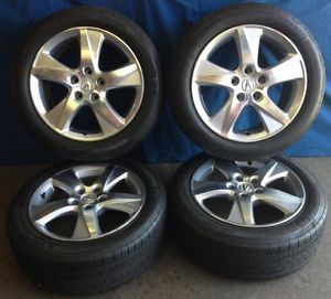 "17"" Acura TSX 2012 OE Wheels 4 Silver Rims Michelin HXMXM4 Tires"