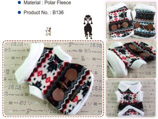 Dog Winter Clothes Pet Apparel Snow Polo Coats Polar Fleece Faux Fur Shirts B136
