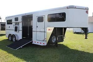 New 2014 Sundowner Charter SE Gooseneck 2 or 3 Aluminum Horse Stock Trailer SL