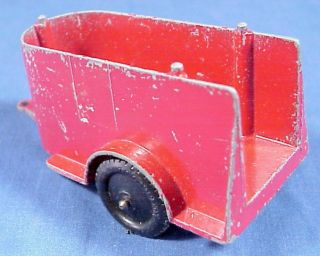 "Tootsietoy Horse Trailer Red 3 3 4"" Tootsie Toy Old Vintage 1950s"