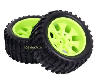 4pcs RC Rubber Sponge Tires Tyre Wheel Rim HSP 1 10 Monster Bigfoot Truck 88013