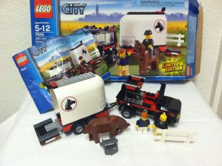 Incomplete Lego City Town 7635 4WD with Horse Trailer