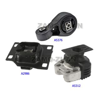 05 07 Ford Focus 2 3 Engine Motor Trans Mount Kit 3pcs A5312 A5376 A2986