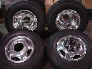 "6 17"" 2013 Silverado Sierra 3500 Dually Factory Wheels Michelin Tires"