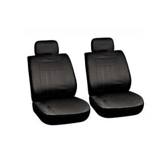 6 Piece Solid All Black Basic Front Auto Van Van Seat Cover Set Bucket Chairs