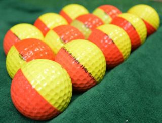 12 RARE Ping Karsten Eye Yellow Orange Golf Balls