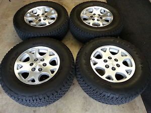 Set of 4 Chevy Tahoe Z71 Wheels and Tires Goodyear Wrangler ATS 265 70 17
