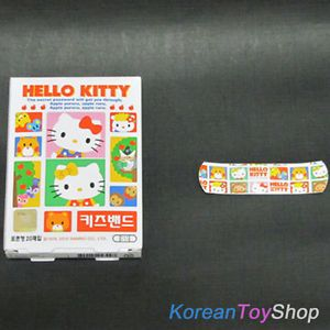 Hello Kitty Kids' Cute Band Aid Bandages Standard 20 Pads Bonus Ginseng Tea