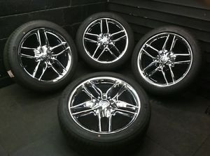 "20"" Ford Taurus Lincoln MKS MKT Factory Chrome Wheels Rims Michelin Tires"