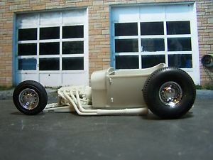 Vintage Hot Rod Rat Rod Kit Bashing 29 Ford Roadster 454 Lots of Chrome