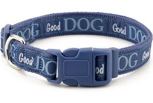 "Douglas Paquette Nylon Dog Collars Leads Harnesses ""Good Dog "" Design"
