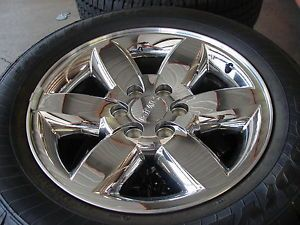 "4 20"" Silverado Tahoe Sierra Yukon Denali Chrome Wheels Goodyear Tires"