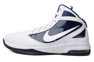 Nike Air Max Destiny TB Mens Basketball Shoes 454091 104 White Navy Sz 9 5 13