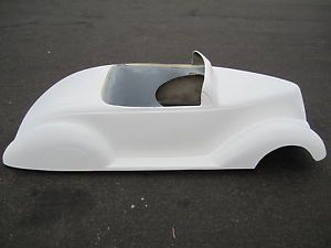 1937 Ford Convertible Pedal Car Hot Rod Stroller Fiberglass Body Rat Rod