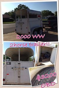 2000 WW 2 Horse Trailer Equine Rodeo Bumper Pull