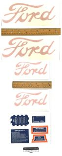 Licensed Ford Early 8N Tractor Decal Set 1948 1949