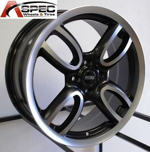 "18"" John Work Style Matt Black 4x100 Wheel Mini Cooper s JCW Clubman R50 R52 R53"