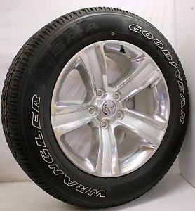 "New 2013 Dodge RAM 1500 Polished 20"" Wheels Rims Goodyear Wrangler Tires"