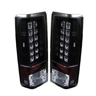 Tail Lights Chevy Astro GMC Safari 1985 2005 LED Black