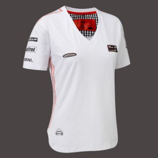 "Mini Cooper s WRC Team T Shirt White L 36 40"" Ladies New for 2012 Rally"