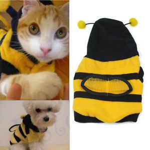 New Pet Dog Cat Supplies Clothes Bumble Bee Design Dress Up Costume