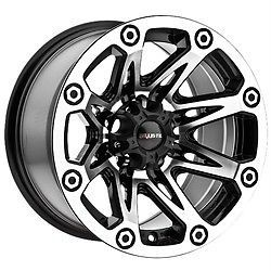 15 inch Ballistic Flash Black Wheels Rims Ford Ranger