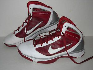 Nike Hyperize TB Basketball Shoes 367181 113 Burgundy Wht SLVR Mens US 10 5