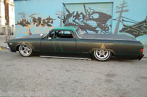 1967 Chevy El Camino Hot Rod Rat Rod Chopped Bagged Custom Chevrolet Ford Truck