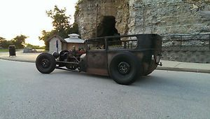 1927 Ford Model T Tudor Sedan Hot Rod Rat Rod Chopped Channeled