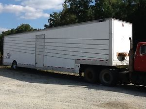 48' Car Hauling Enclosed Trailer Show Car Race Car Trailer w Storage Cabinets