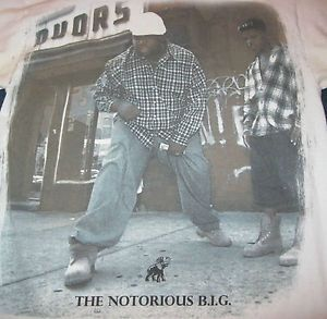 The Notorious B I G Big Rap Hip Hop Faded Mens Brooklyn Mint T Shirt s Small